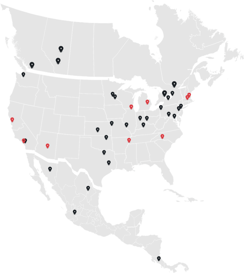 Map of Methods Machine Tools locations