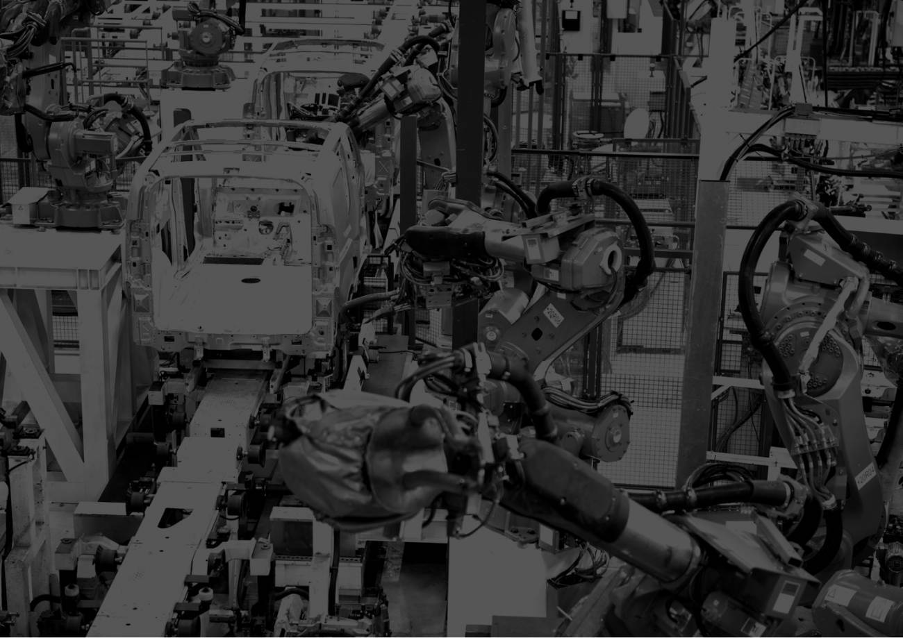 Factory manufacturing cars