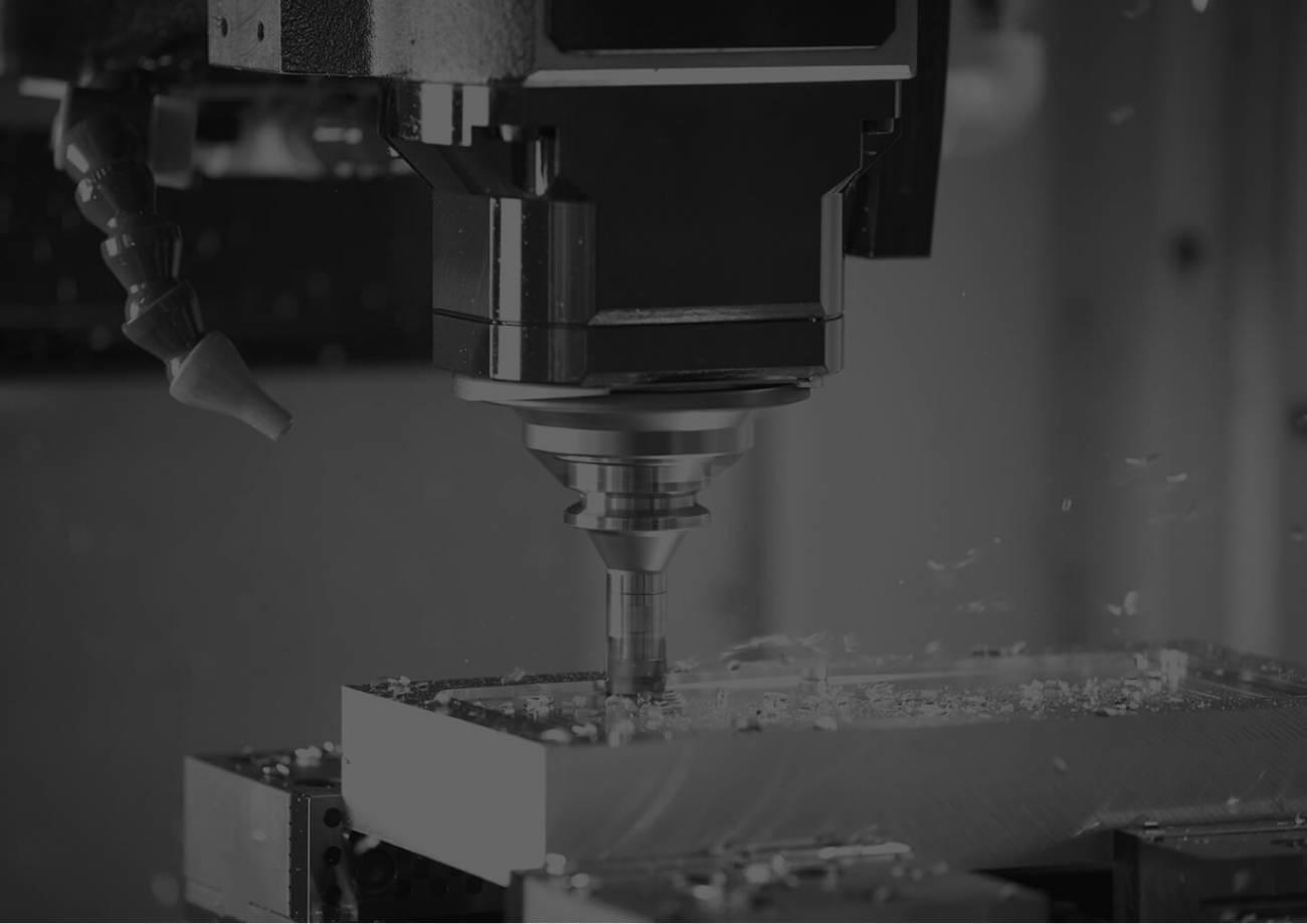 A vertical milling machine
